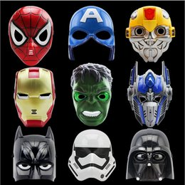 adult captain america mask Australia - LED Cartoon Movie Masks Superhero Batman Spider Man Captain America Hulk Iron Man Mask for Kids Adults Party Halloween Birthday