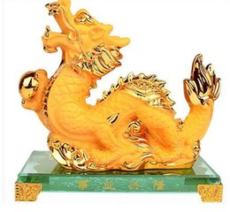 $enCountryForm.capitalKeyWord Australia - gold Chinese zodiac Dragon snake big golden zodiac Animal brings handicraft furnishing exquisite gift sculpture home decoration