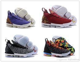 sports shoes 60714 23df7 2019 Neue Lebron 16 Schuhe Equality King Court Lila Ich verspreche King  Fresh Bred 1 Thru 5 Oreo What The LBJ 15s James 7-12