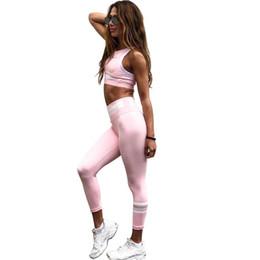 $enCountryForm.capitalKeyWord Australia - Workout Clothes for Women 2 Piece Pink Yoga Sets Active Crop Pants Seamless Set Gym Fitness Sport Exercise Clothing Sportswear