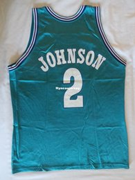 Champion Sewn Hor Sewn Larry Johnson jersey vintage 90s original Mens Vest  Size XS-6XL Stitched basketball Jerseys Ncaa College 097916d49