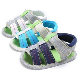 $enCountryForm.capitalKeyWord Australia - Baby Boy Girl Sandals Summer Green Toddler Newborn Cotton Soft Anti-Slip Sole First Walkers Crib Shoes for Infant Boy Outdoor