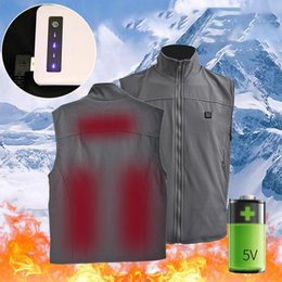 Jacket Fish Australia - Heated Vest Heated Vest Winter Clothes USB Outdoor Electric Jacket Thermal Hiking Fishing