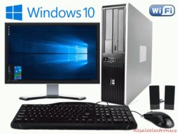 Fast PC HP Desktop PC Dual Core 3,4 Ghz 8 GB 1 TB Windows 10 Pro WIFI monitor