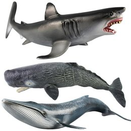blue whale toy 2019 - Ocean Sealife Animals Large Emulational Blue Whale Sperm Whale Shark Animal Model For Kids Learning Toy Children Gift ch
