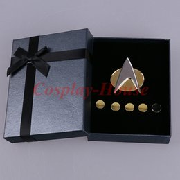 Badge Accessories Australia - Accessories Costumes Badge Cos Star Trek Voyager Communicator Metal Badges Pin&Rank Pip Pips 6pcs Set Cosplay Prop Halloween Party