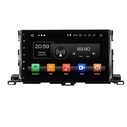 "Toyota Highlander Gps Android Australia - 4GB RAM 64GB ROM Android 8.0 Octa Core 10.1"" Car DVD Radio GPS for Toyota Highlander 2015 2016 2017 Car Multimedia Head Unit Bluetooth WIFI"