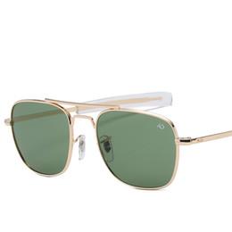 $enCountryForm.capitalKeyWord NZ - A Fashion Aviation AO Sunglasses Men Brand Designer Sun Glasses For Male American Army Military Optical Glass Lens Oculos