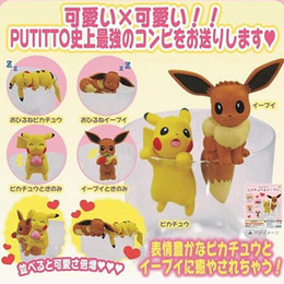 "Eevee Figure Australia - Top New 6Pcs Lot 1.5""-2"" 4CM-5CM PKC Eevee Cup Edge Decoration Figure Anime Collectible Action Figures Party Gifts Toys"