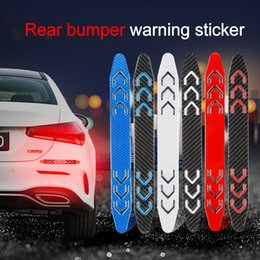 $enCountryForm.capitalKeyWord NZ - 2Pcs Lot Carbon Fiber Reflective Safety Warning Car Sticker Tape Car Bumper Reflective Strip Reflector Covering Scratch Sticker