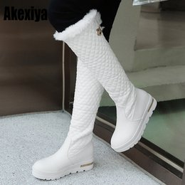 $enCountryForm.capitalKeyWord NZ - winter Thick bottom muffin heel Flat bottom thick White black snow boots middle boot Women's Buckle cotton shoes k130