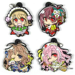 Rubber Keys Australia - DMM GAME FLOWER KNIGHT GIRL Rubber pendant anime PVC Mobile Phone charms rope Accessories strap Key chain Bag ornaments Keychain
