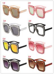 $enCountryForm.capitalKeyWord Australia - Big diamond Sun Glasses Square colored Shades Women Oversized Sunglasses Retro Top Crystal Trend Rhinestone k0420