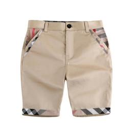 venda por atacado Inseto roupas menino calças médias design cor sólido menino verão 100% algodão calça média