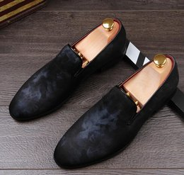 Shoes Pointed Toes Cloth Men NZ - New arrive men's wedding party dress Cloth cover Leather shoes breathable flats oxfords shoe pointed toe zapatos Moccasins AXX95
