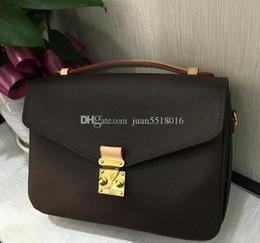 Genuine Leather Snakeskin NZ - Fashion! Fashion Genuine Leather Womens Handbag Metis Shoulder Bags M50680