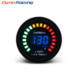 "Wholesale Dynoracing 2"" 52MM Digital 20 LED EGT Exhaust Gas temp Gauge Auto Car Styling EGT Temperature Gauge car meter BX101458"