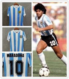 1986 78 Argentinien Trikot 10 DIEGO MARADONA Trikot Fußball Trikot Erwachsene Fußball Messi Stabile Passarella Caniggia Kempes im Angebot