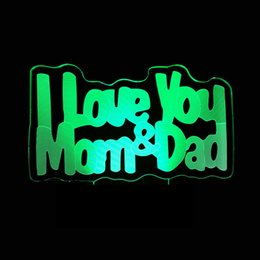 $enCountryForm.capitalKeyWord Australia - I Love You Mom&dad 3d Colorful Touch Small Night-light 3d Led Remote Control Small Desk Lamp Lamp Gift
