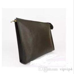 Flower Cosmetics Australia - Designer Wallet letter flower Coffee Black lattice mens bags women wallets Cosmetic bag zipper Designer Handbags purses 47542 Come with BOX