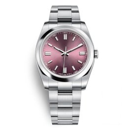 Champagne dial online shopping - New Mens Women Wristwatches mm Sapphire Automatic Red Grape Rose Gold Dial Full Steel Luminous Men Women Dress Watches President Desinger