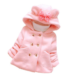 Acrylic Jackets Australia - 256 High quality 0-4 years winter girl jacket thicken warm Hooded baby clothing kid children outerwear coat baby jacket