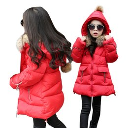 Parkas For Winter Australia - OLEKID Winter Jacket For Girls Brand Casual Hooded Thick Warm Girl Parka 4-13 Years Kids Outerwear Coat For Teenage Girls