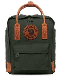 good quality girls school bags 2019 - Good Quality Fjallraven Kanken Canvas Deep Forest Childent Backpacks Student School Large Capacity Essential Travel Bag