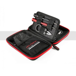 Tool Bag Master Coil Australia - 100% Authentic all-in-one Coil Master DIY Kit mini V1 with tool Coiling Kit V4 Vape Tweezers Bag Tweezers RDA Pliers Wire Heaters Scissors