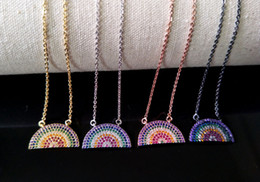 Brass Pendant Connector Australia - 10Pcs Turkish Style rainbow Double Bails Connector Necklace,CZ zircon Micro pave crystal Charm Jewelry making for woman NK68