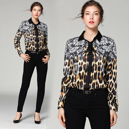 $enCountryForm.capitalKeyWord NZ - New Spring Summer Runway Women's Long Sleeve Leopard Lace Print Shirt Lady Casual Office Button Down Turn Down Neck Shirts BlouseTops