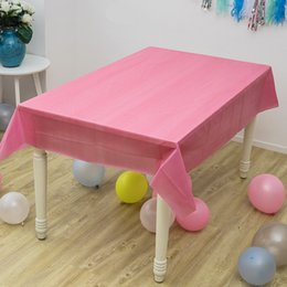 $enCountryForm.capitalKeyWord Australia - 137*183 cm Girls Favors Hot Pink Solid Color Tablecloth Baby Shower Decoration Wedding Maps Happy Birthday Table cover 1PCS Lot
