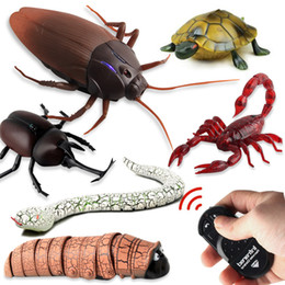 $enCountryForm.capitalKeyWord Australia - New funny toys infrared ray remote control electric plastic animal cockroach spider ant snake crap toy for best gifts