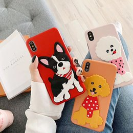 $enCountryForm.capitalKeyWord Canada - Popular 3D Cartoon Dog Soft Silicone Phone Case Gel Back Cartoon Character Holder Phone Cover for iPhone 7 8PLUS XR X MAX