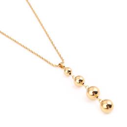 $enCountryForm.capitalKeyWord Australia - Beads Necklace for Women Girls Charm Jewelry Round Ball Necklaces African Arab Nigeria Gifts