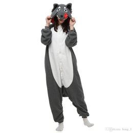 $enCountryForm.capitalKeyWord Australia - Unisex New Adult Animal Gray Wolf Pajamas High Quality Grey Cartoon Kigurumi Onesies Costumes Jumpsuits Christmas Gift
