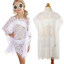 $enCountryForm.capitalKeyWord Australia - Toddler Kid Baby Girl Beach Clothes Set 3PCS Summer Baby Girl Lace Cover-Up Dress+Bikini Set Girl Swimwear Beachwear Swimsuit JY299