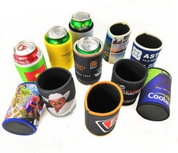 cup holder cover NZ - Colorful Insulated Cup Cover 6 Designs Beer Cups Sleeve Floral Flowers Cup Holder Printed Beverage Coolers 200 Pieces DHL