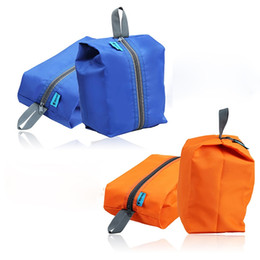 Travel Kit Clothes Australia - 4 Colors Outdoor Waterproof Clothes Sports Bags Portable Travel Kits Zipper Storage Pouch Shoes Bags Camping #48420