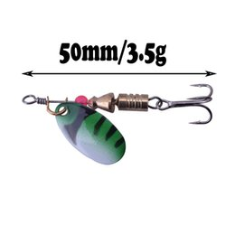 trolling spinners lures 2019 - 1pcs Metal Spinner Bait 3.5g 5.5g Bass Pike Bass Rotating Spoon Bait Fishing Lure Iscas Artificial Hard Bait Crap Fishin