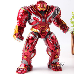 Marvel Light Toys Australia - Avengers Infinity War Iron Man Hulkbuster Toy Lighting Pvc Action Figures Marvel Hulk Buster Collection Model Toys Y190604