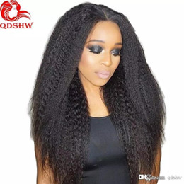 ItalIan yakI straIght lace wIg online shopping - Kinky Straight Human Hair Lace Front Wig For Black Women HD Transparent Lace Glueless Virgin Brazilian Hair Full Lace Wigs Italian Yaki