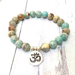 Gem chains online shopping - MG0570 Aqua Terra Jasper Mala Bracelet For Women High Quality Spiritual Bracelet Natural MM Gem Stone Balance Yoga Jewelry