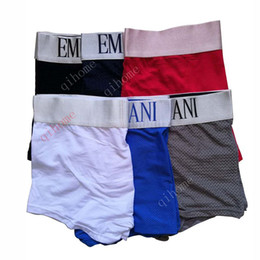 3cf1122f6 6 pçs   lote Malha 100 Famoso Algodão Novos Homens Underwear Boxers Cuecas  Boxers Cuecas Homens Calcinha Respirável Calcinha Sexy Homme Calzoncillos