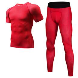 $enCountryForm.capitalKeyWord UK - New 3D Printed T-shirts Men Compression Shirt Short Sleeve TShirt Pants suit Mens Fitness Bodybuilding Skin Tight Quick Dry Tops