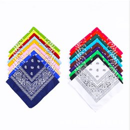 Wholesale DHL Free Shipping 55*55CM bandana outdoor riding scarf headscarf mask multifunctional polyester square handkerchief Factory Price S0102