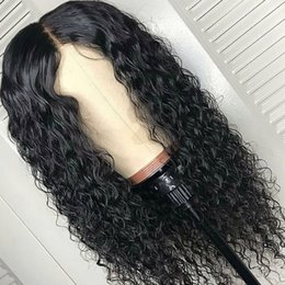 deep part wigs 2019 - Brazilian Pre Plucked Deep Wavy Middle Part Full Lace Human Hair Wigs With Baby Hairs Lace Front Wig For Black Women dis