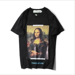 $enCountryForm.capitalKeyWord Australia - 19ss new fashion Europe and the United States trend personality Mona Lisa arrow T-shirt fashion youth short-sleeved casual