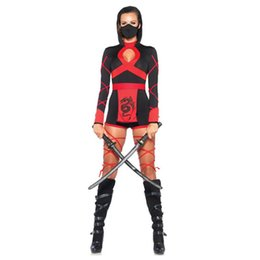 Adult Anime Games Australia - Halloween New Ninja Cosplay Mask Black Hooded Costume Assassin Game Cosplay Women Adult Sexy Anime Ninja Costume Black Suits