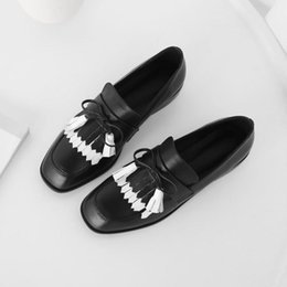 $enCountryForm.capitalKeyWord Australia - Spring new Lok Fu shoes female Pingdi Sen British wind college tassel simple leather single shoes small shoes